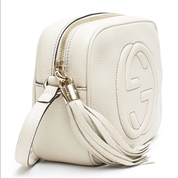 nice shoes latest fashion wide selection of colours and designs Gucci Soho Leather Disco Bag Mystic White Handbag NWT